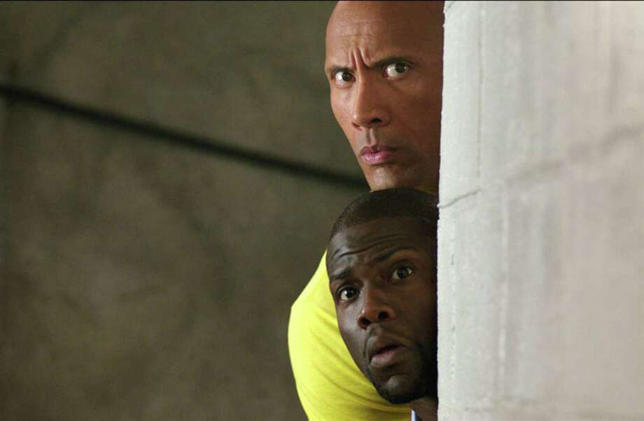 "Kevin Hart and Dwayne Johnson in ""Central Intelligence."" (Warner Bros. Entertainment Inc.) Photo: Warner Bros., HO / TNS"
