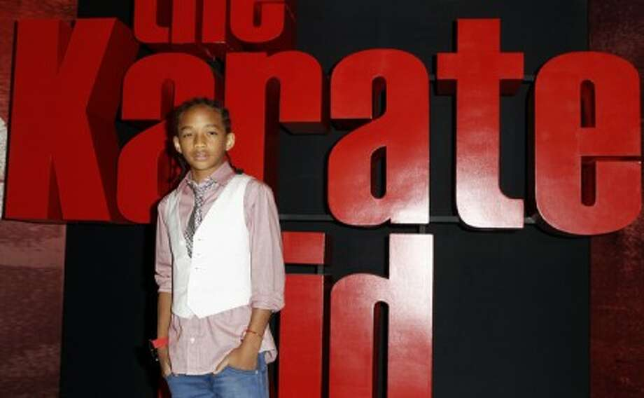 """Actor Jaden Smith, winner of the ShoWest 2010 Breakthrough Male Star of the Year award for his work in the upcoming film """"The Karate Kid"""", poses for photographers in Las Vegas on Wednesday, March 17, 2010. (AP Photo/Matt Sayles)"""