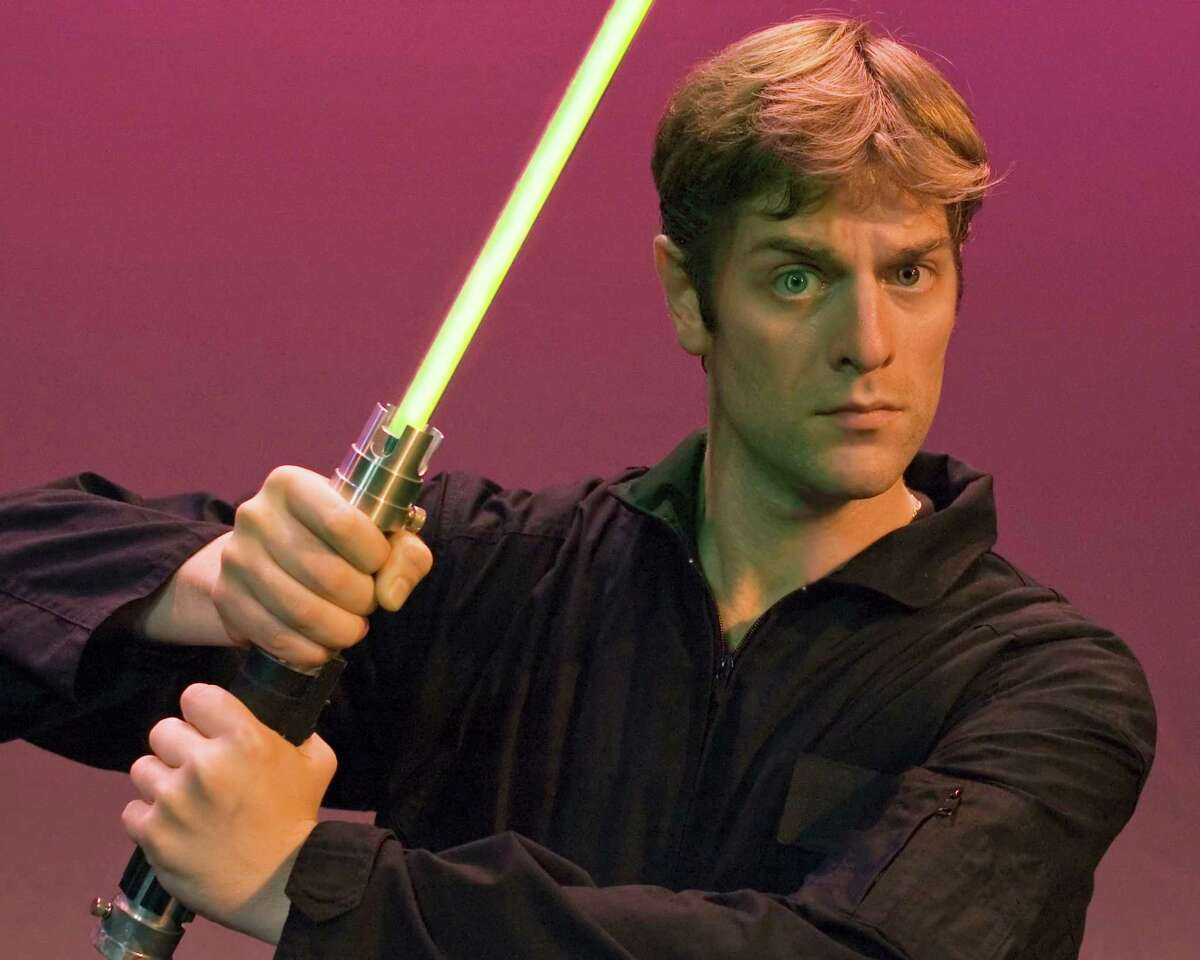 """Charles Ross brings his """"One-Man Star Wars Trilogy"""" to the Grand 1894 Opera House on Saturday."""