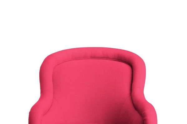 Drake Slipper Chair: maple frame ? linen fabric in azalea ? seat depth 21? ? seat height 18.5? ? $2,870