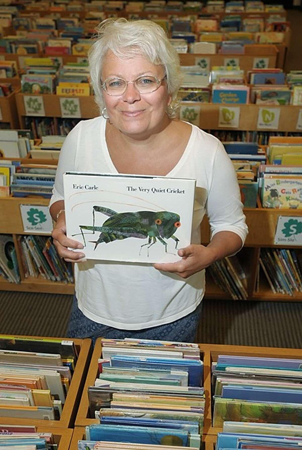 Leslie Keogh, Childrens Librarian at the Wilton Library. Hour photo / Erik Trautmann