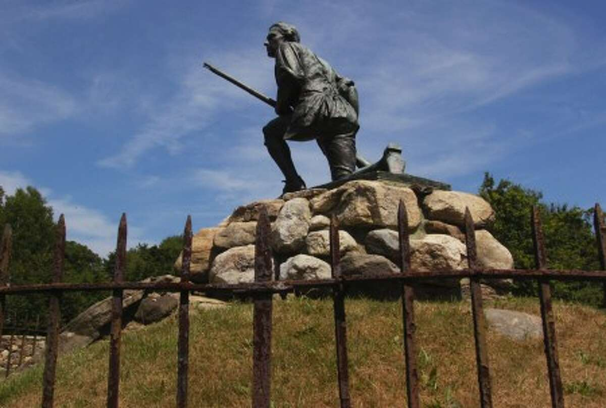 The Minuteman statue on South Compo Rd in Westport. Hour photo / Erik Trautmann