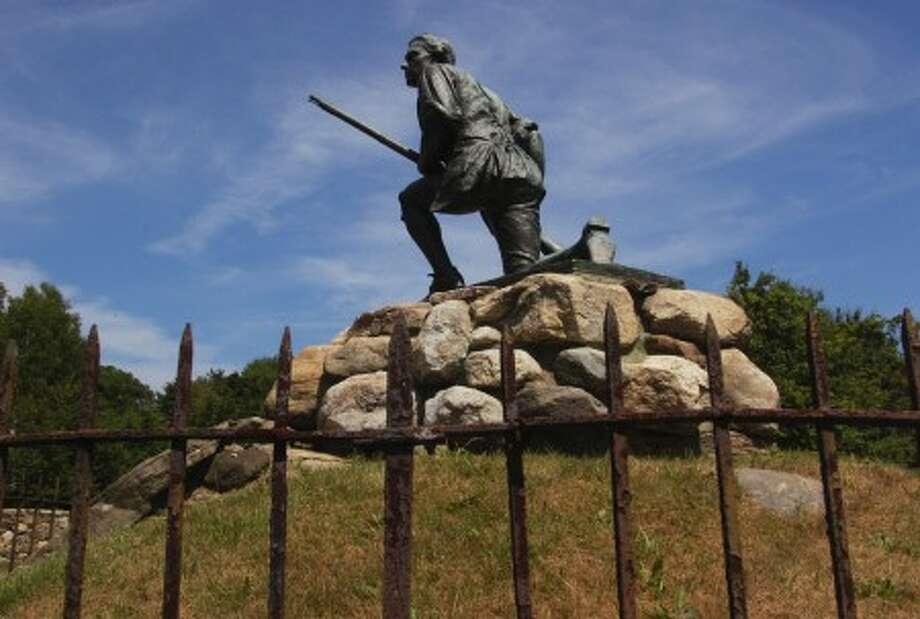 The Minuteman statue on South Compo Rd in Westport. Hour photo / Erik Trautmann
