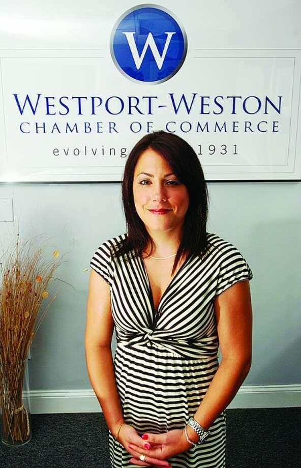 Lisa Thygerson, president/ceo of Westport-Weston Chamber of Commerce. Hour photo / Erik Trautmann