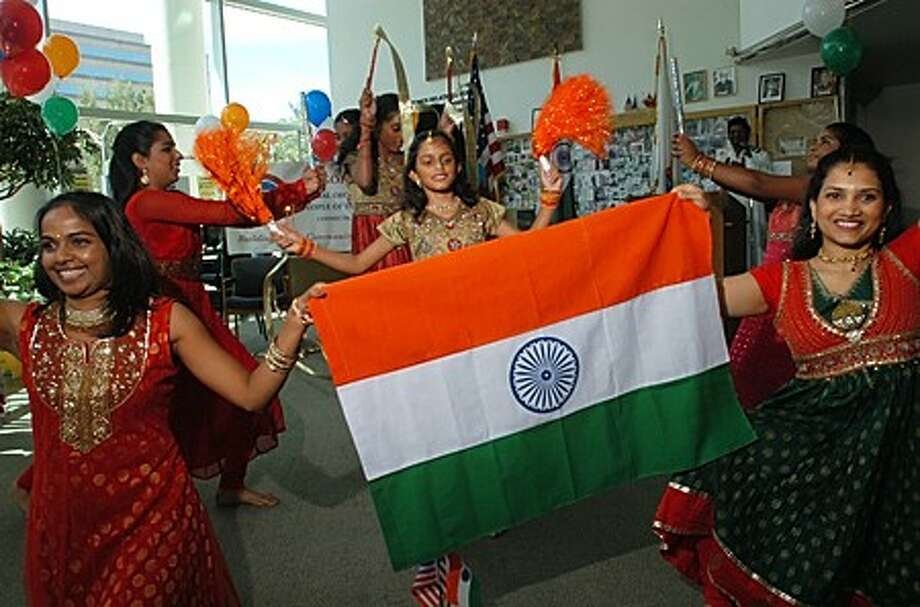 The Dance X Studio dancers performed a traditional indian dance for the 63rd anniversary of India''s Independence Day at the Stamford Government Center Saturday. The event was sponsored by Connecticut Chapter of GOPIO (Global organization of People of Indian Origin).