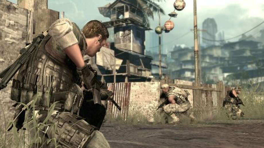 """In this video game image released by Sony Computer Entertainment, a scene is shown from the game """"SOCOM 4."""" (AP Photo/Sony Computer Entertainment)"""