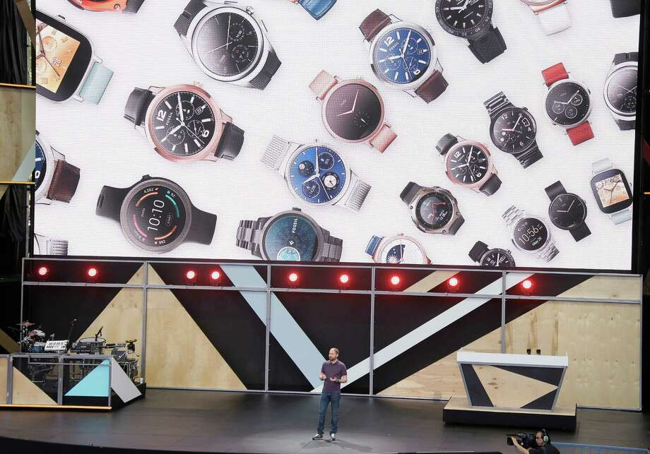 Upcoming changes to Android Wear include complications on watch faces. Photo: Eric Risberg, STF / Copyright 2016 The Associated Press. All rights reserved. This material may not be published, broadcast, rewritten or redistribu