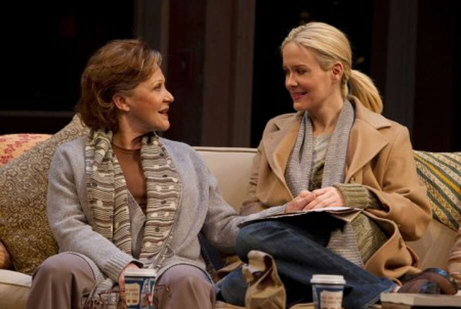 """Linda Lavin, left, and Sarah Paulson are shown in a scene from the Manhattan Theatre Club revival of Donald Margulies'' """"Collected Stories,"""" now playing at Broadway''s Samuel J. Friedman Theatre in New York. (AP Photo/Boneau/Bryan-Brown, Joan Marcus)"""
