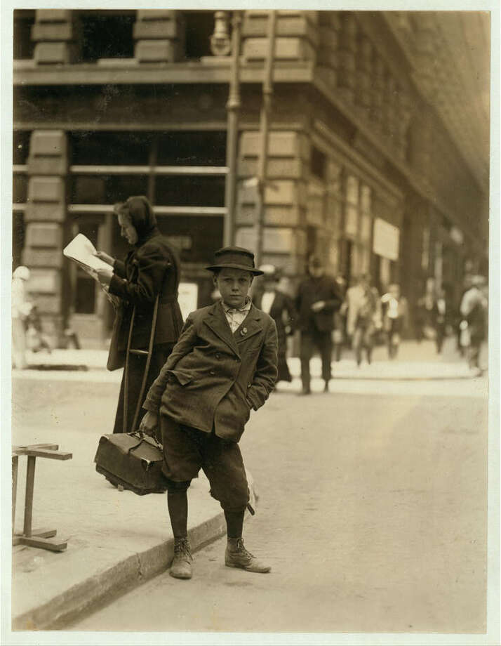 """Bundle boy. Location: St. Louis, Missouri, (May 1910)."" -Library of Congress. Photo by Lewis Wickes Hine. Photo: Library Of Congress, By Lewis Wickes Hine"