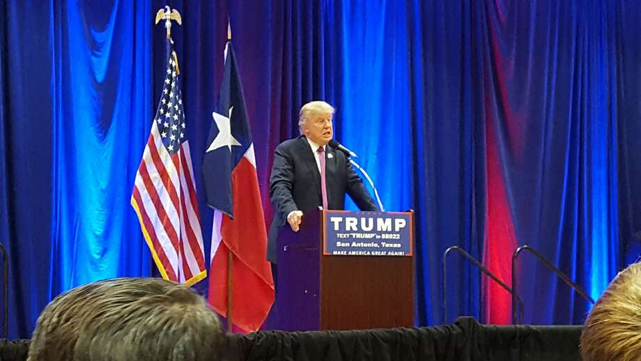 Donald Trump speaks at a private fundraiser in San Antonio where some paid up to $250,000 a ticket for VIP perks. Photo: Courtesy Photo