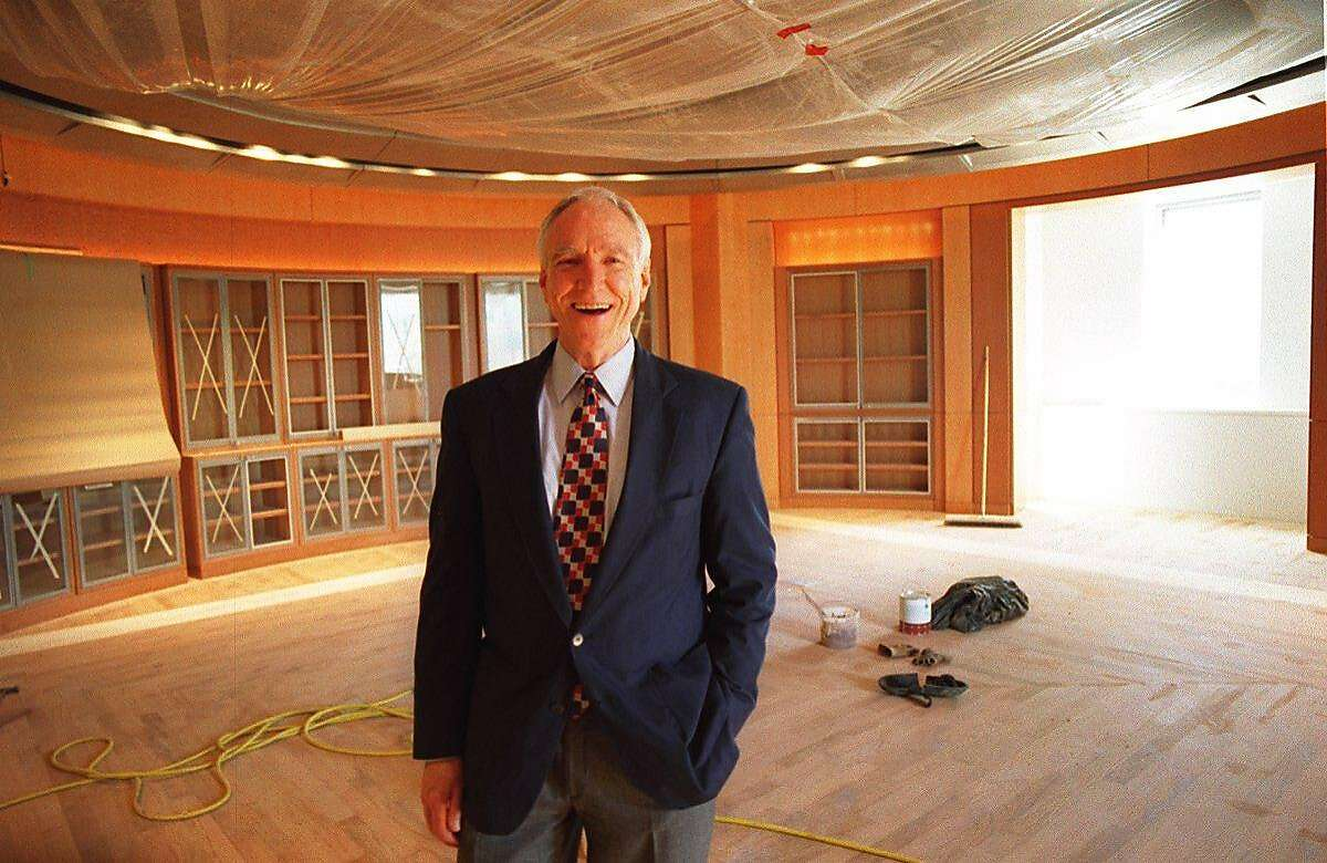 JAMES HORMEL/C/18MAR96/PK/YIP-James Hormel is a benefactor of the new gay and lesbian center at San Francisco's New Main Library. BY RUSSELL YIP/THE CHRONICLE ALSO RAN: 4/17/97, 10/8/97, 11/6/97, 11/11/97, 11/15/97, ALSO RAN: 2/5/98, 2/13/98, 01/12/99 06/05/1999