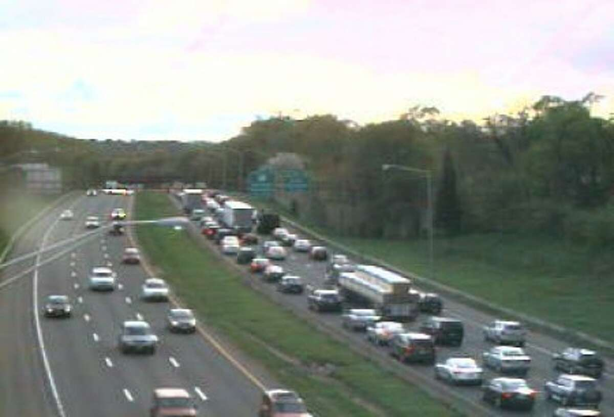 Contributed photo - Traffic back up on I-95 as crews work to clear an accident on Sunday.