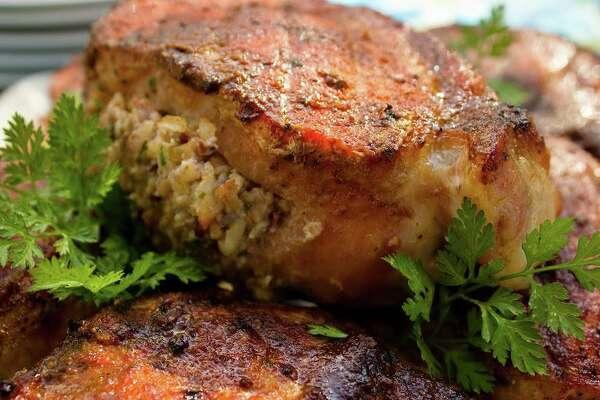 Boutte's Boudin stuffed porkchop