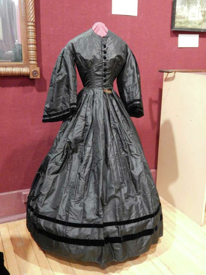 A mourning dress was an opulent fashion statement in Victorian times. Photo: Stamford Historical Society/Contributed Photo / Contributed Photo / Connecticut Post Contributed