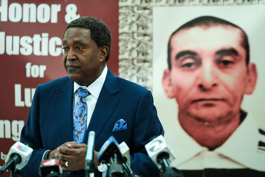 Civil rights attorney John Burris announced the filing of a claim against the city and county of San Francisco for the April 7, 2016 fatal police shooting of Luis Góngora, at a press conference in San Francisco on Friday, June 17, 2016. Photo: Gabrielle Lurie, Special To The Chronicle