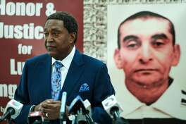 Civil rights attorney John Burris announced the filing of a claim against the city and county of San Francisco for the April 7, 2016 shooting and death of Luis G�ngora Pat, at a press conference in  San Francisco, California, on Friday, June 17, 2016.