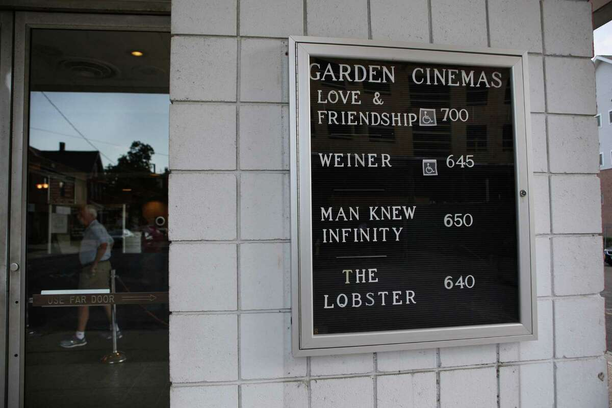 A fixture in the center of Norwalk for decades, the Garden Cinema no longer runs block buster movies. Now, it is content to show small art films, foreign films and documentaries, the marquee displays some of those titles currently playing at the theater.