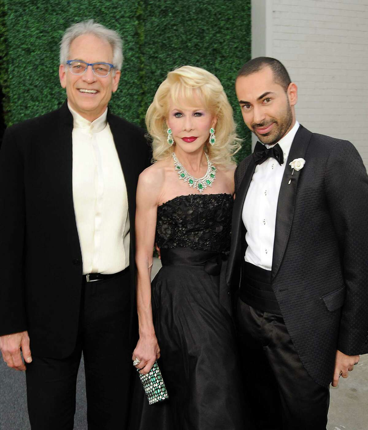 """From left: Mickey Rosmarin, Diane Lokey Farb and Fady Armanious at the 2014 Alley Theatre Ball """"Ultimate Construction"""" at the Silver Street Studios Saturday April 12, 2014."""