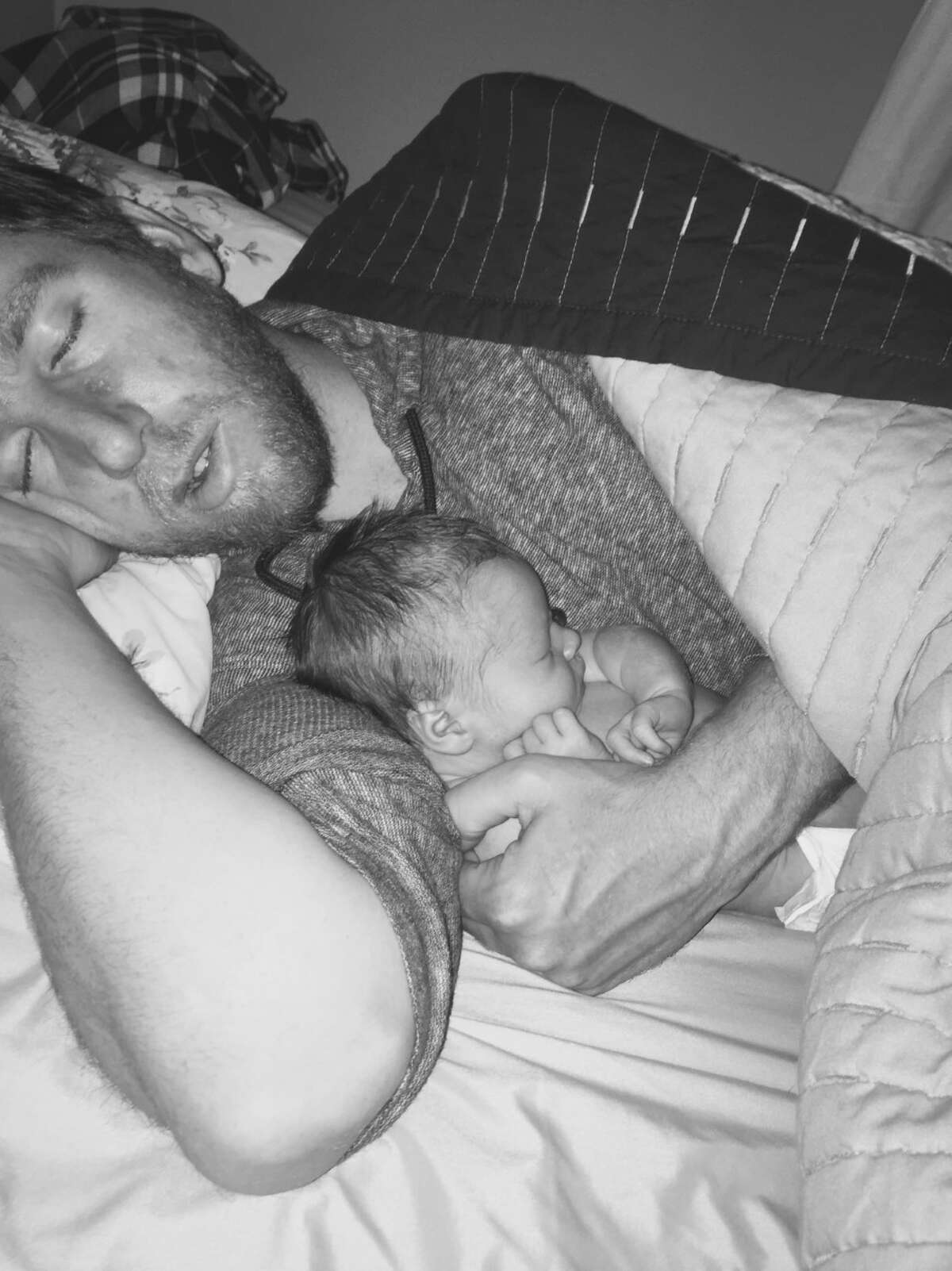 It's nap time for James and baby Savannah.