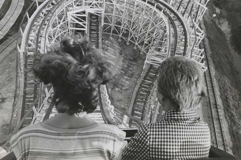 The work of Blair Pittman at the Houston ChronicleAstroWorld Texas Cyclone roller coaster ride on June 22, 1976.  Photo: Blair Pittman, Staff / Houston Chronicle
