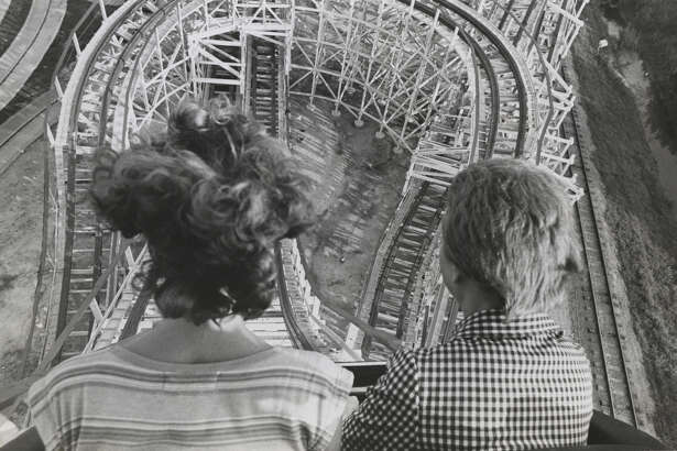 Astroworld Texas Cyclone roller coaster ride. June 22, 1976