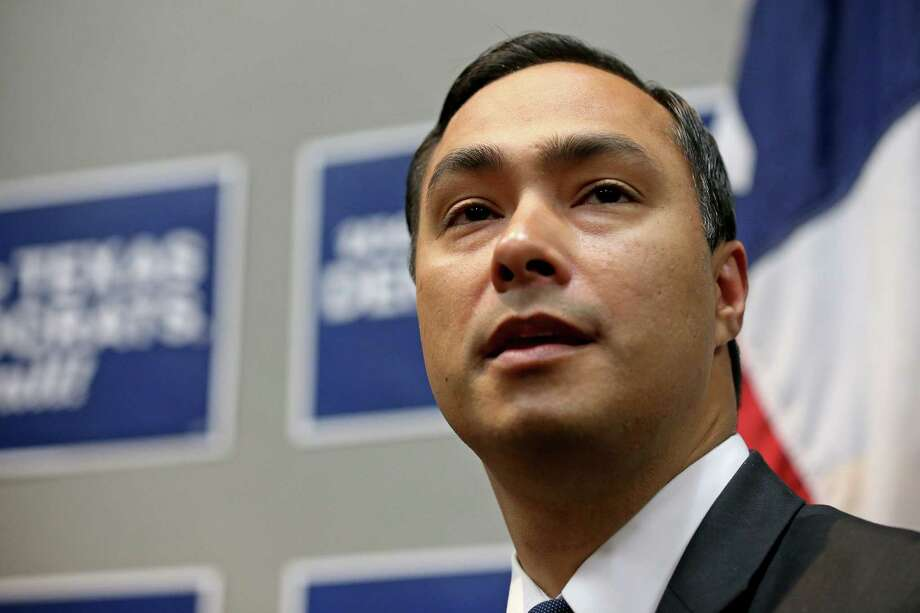 U.S. Rep. Joaquin Castro, D-San Antonio, answer questions from the media at a press conference with his twin brother Secretary of Housing and Urban Development and former San Antonio mayor Julian Castro (not pictured) during the 2016 Texas Democratic Convention held Friday June 17, 2016 at the Alamodome. Photo: Edward A. Ornelas, Staff / San Antonio Express-News / © 2016 San Antonio Express-News