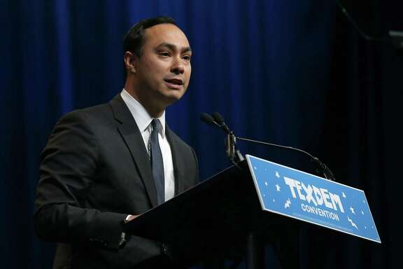 U.S. Rep. Joaquin Castro, D-San Antonio, speaks during the 2016 Texas Democratic Convention held Friday June 17, 2016 at the Alamodome.