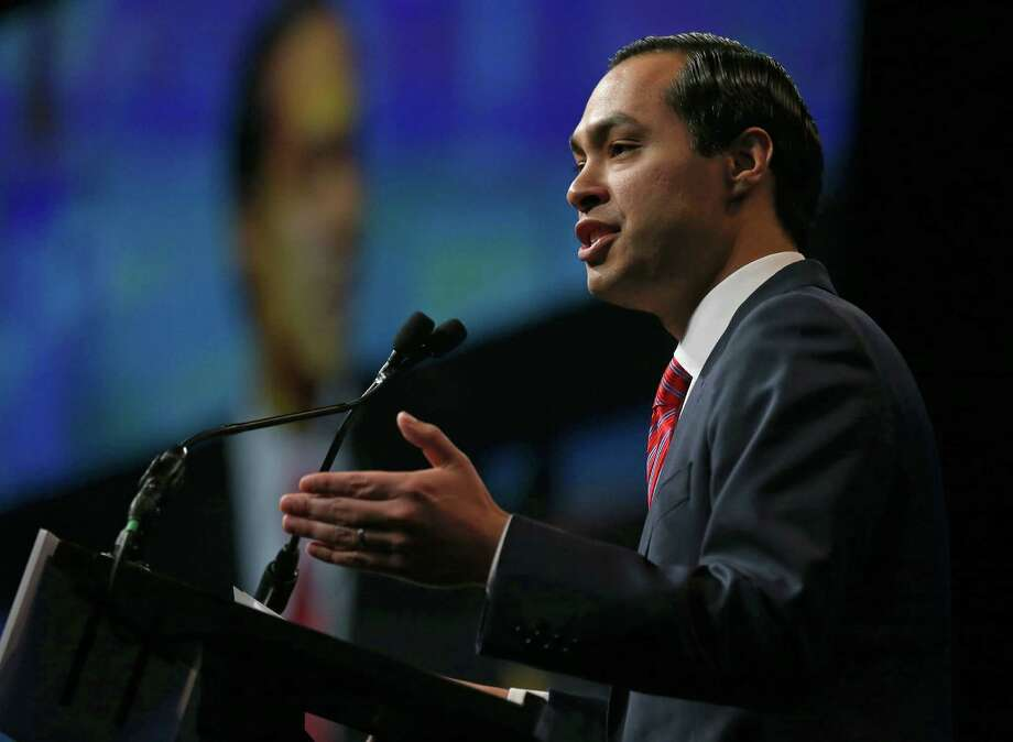 Secretary of Housing and Urban Development and former San Antonio mayor Julian Castro speaks during the 2016 Texas Democratic Convention held Friday June 17, 2016 at the Alamodome. Photo: Edward A. Ornelas, Staff / San Antonio Express-News / © 2016 San Antonio Express-News