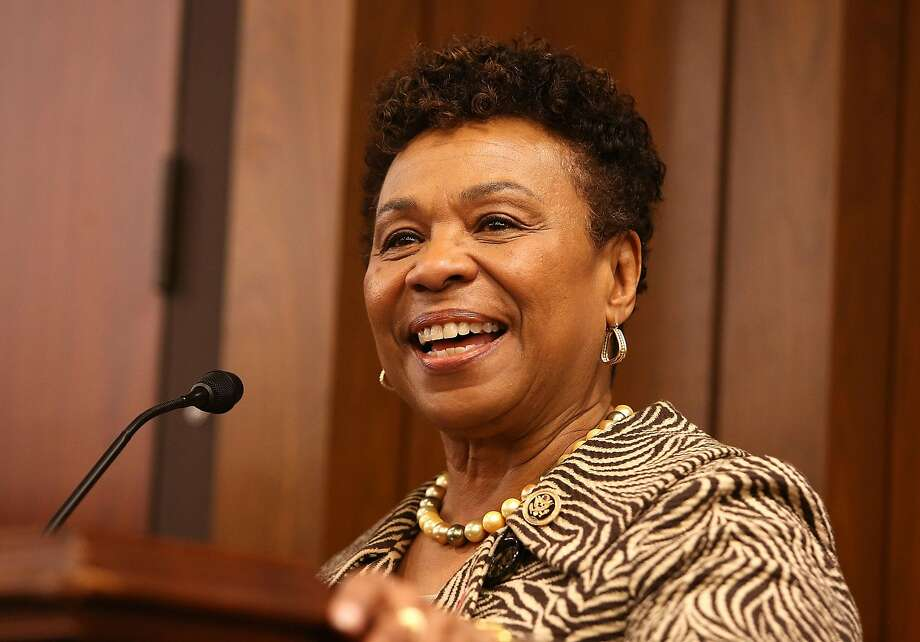 Rep. Barbara Lee, D-Oakland, accepts a leadership award at the AIDSWatch ceremony in February. Photo: Paul Morigi, Getty Images For The Elizabeth T
