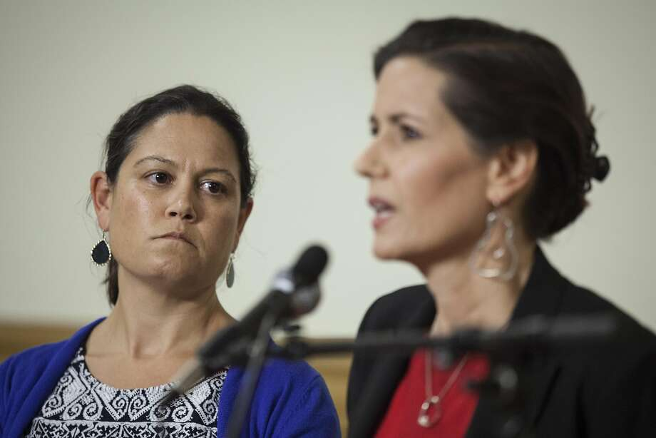 Mayor Libby Schaaf announces appointment of City Adminis trator Sabrina Landreth (left) to oversee the Police Department. Photo: Peter DaSilva, Special To The Chronicle