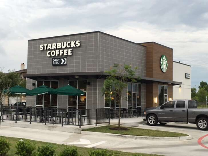This Starbucks is at the corner of West Road and Eldridge Parkway. Wile Interests built the freestanding café on land that it purchased in 2015.
