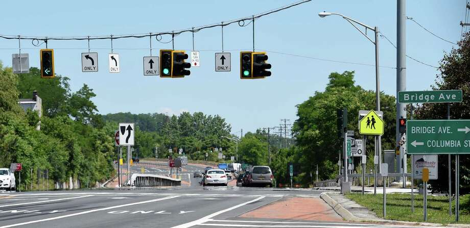 Location of fatal accident at the intersection of Bridge Avenue and Interstate 787 looking northbound on Friday, June 17, 2016, in Cohoes, N.Y.  (Skip Dickstein/Times Union) Photo: SKIP DICKSTEIN / 40037038A