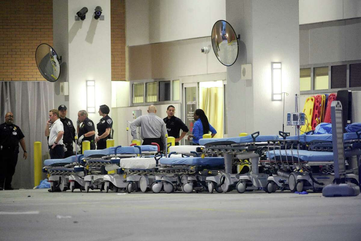 In this June 12 file photo, emergency personnel wait at Orlando Regional Medical Center hospital for the arrival of patients from the fatal shooting at a nightclub in Orlando, Fla. Up to 1 in 5 deaths from car crashes, gunshots or other injuries might be prevented with better, quicker trauma care.