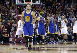 Warriors' Stephen Curry, 30  as Golden State went on to beat the Cleveland Cavalier in game 4 of the NBA Championship at Quicken Loans Arena in Cleveland, Ohio on Fri. June 10, 2016.