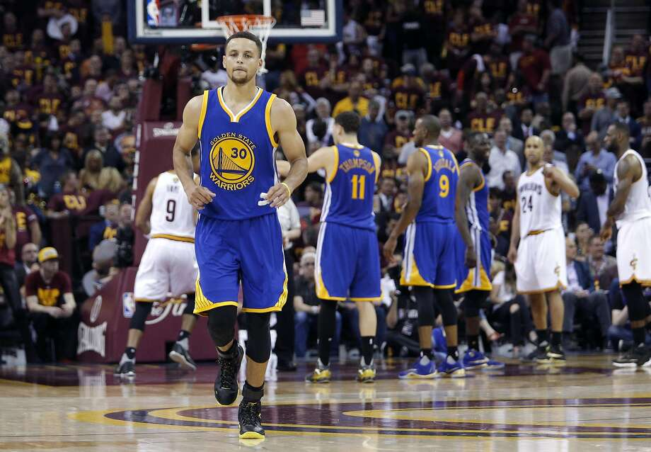 Warriors' Stephen Curry in Game 4 of the NBA Championship at Quicken Loans Arena in Cleveland, Ohio. Photo: Michael Macor, The Chronicle