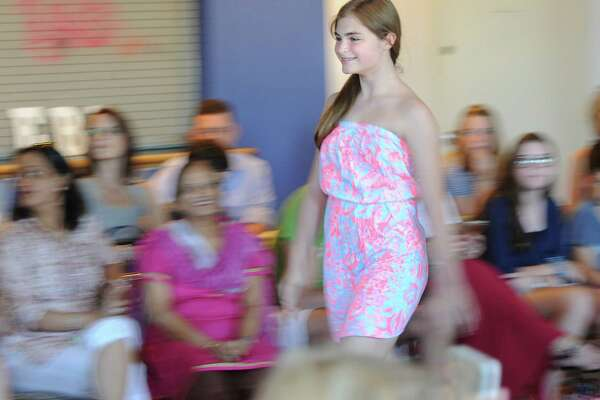 Eastern Middle School seventh-grader Allison Sobieri, 13, walks the runway during the EveryBodyBeautiful Fashion Show at the Arch Street Teen Center in Greenwich, Conn., Saturday, June 18, 2016. EveryBodyBeautiful Fashion Show founders, Cali Hedbabny, 13, and Maggie Tone, 14, both Central Middle School 8th graders, said the proceeds from the show, totaling over $1000, went to the National Eating Disorder Association. The two students said the idea for the show came from working on a school project about health and appearance. They also said they hope to raise awareness that everybody's body is beautiful and that negative body image and eating disorders are serious issues that impact their peer group.