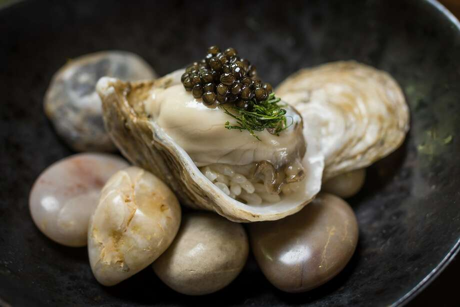 Kusshi Oyster with Caviar at Ju Ni  in San Francisco, California, is seen on June 17th, 2016. Photo: John Storey, Special To The Chronicle