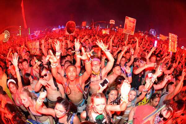 LAS VEGAS, NV - JUNE 17:  Atmosphere shot of the audience reacting to electronic musician Jauz during the 20th annual Electric Daisy Carnival at Las Vegas Motor Speedway on June 17, 2016 in Las Vegas, Nevada.  (Photo by Michael Tullberg/Getty Images)
