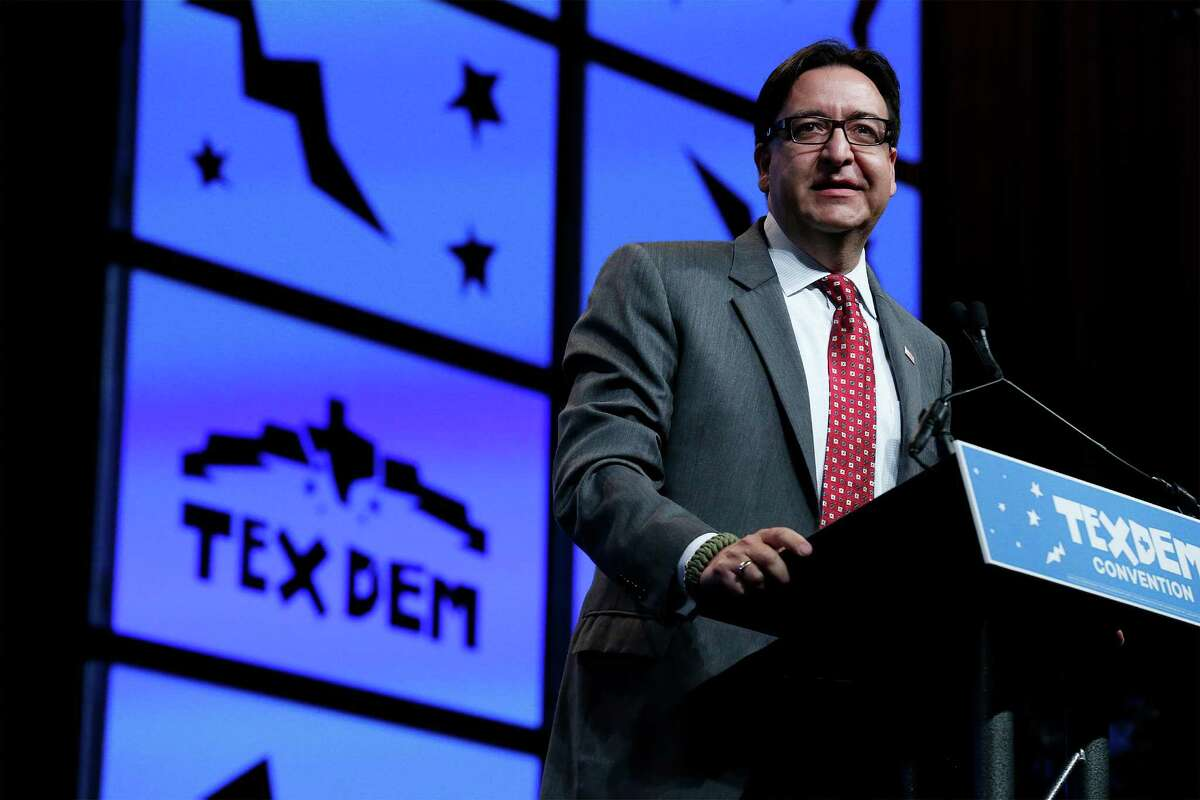 Pete Gallego, who is trying to reclaim a congressional seat he lost to a Republican, was among Democrats who attacked Donald Trump at the Texas Democratic Convention on Saturday.