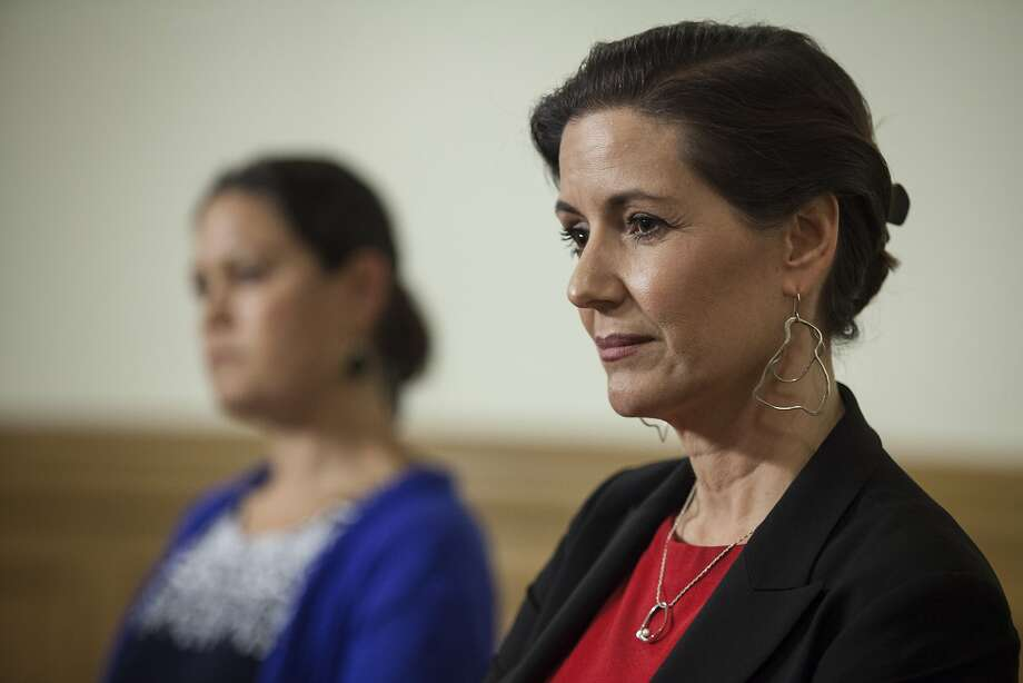 Oakland Mayor Libby Schaaf, flanked by City Administrator Sabrina Landreth addressed the media about Landreth's appointment to over see the Oakland Police department during a press conference at City Hall in Oakland, California, USA 17 Jun 2016. (Peter DaSilva/Special to The Chronicle) Photo: Peter DaSilva, Special To The Chronicle