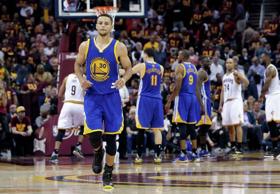 Warriors' Stephen Curry, 30  as Golden State went on to beat the Cleveland Cavalier in game 4 of the NBA Championship at Quicken Loans Arena in Cleveland, Ohio on Fri. June 10, 2016. Photo: Michael Macor, Staff / The Chronicle / ONLINE_YES