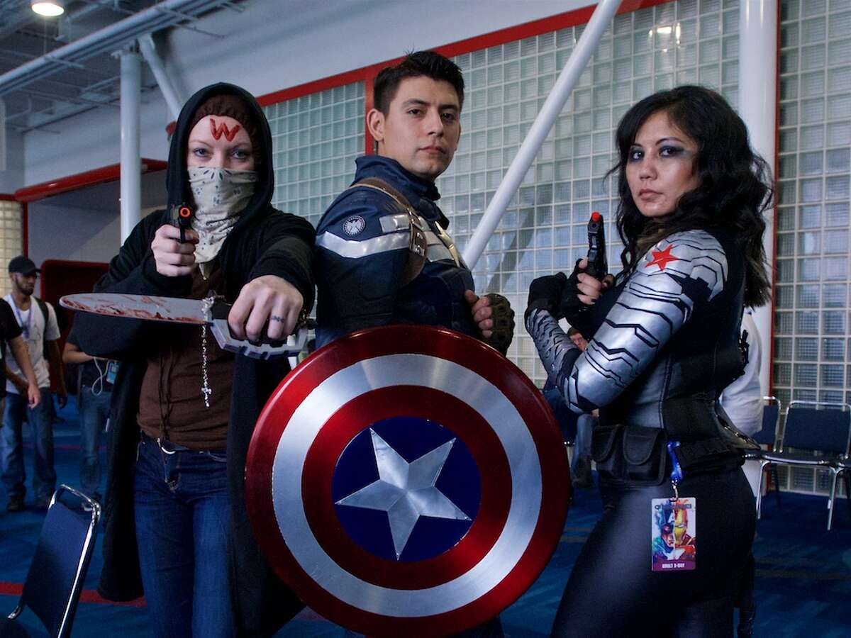 2016: Fans pose for a photo during Comicpalooza, at the George R. Brown Convention Center.