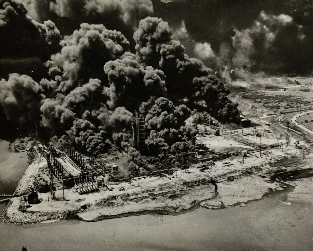 A styrene plant became a roaring inferno on April 16, 1947, in Texas City. Hundreds of other fires started in areas where petroleum was stored.