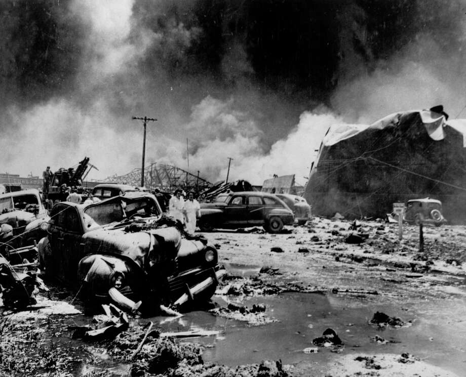 On April 16, 1947, more than 2,000 tons of ammonium nitrate fertilizer ignited and detonated aboard a vessel in the Port of Texas City.We looked through our archives and elsewhere to bring you this collection of photos from the scene. Photo: Jerry Maze, HP Staff / Houston Post files