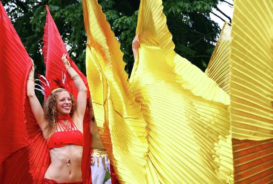 Members of Bloco Pacifico warm up before the parade. Photo: GENNA MARTIN, SEATTLEPI.COM / SEATTLEPI.COM