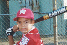 Carlos Correa as a child.