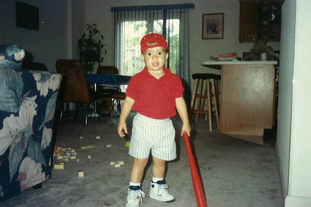 George Springer as a child.