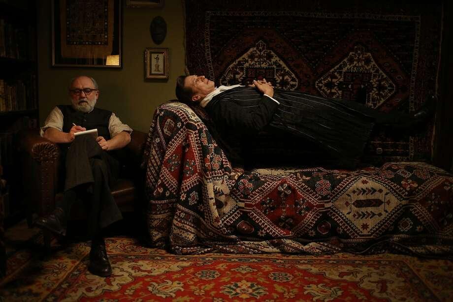 "Sigmund Freud (Karl Fischer) analyzes the Count (Tobias Moretti) in ""Therapy for a Vampire."" Photo: Petro Domenigg FILMSTILLS.AT KG Geyergasse 3/12a A-1180 VIENNA, Courtesy Of Music Box Films"