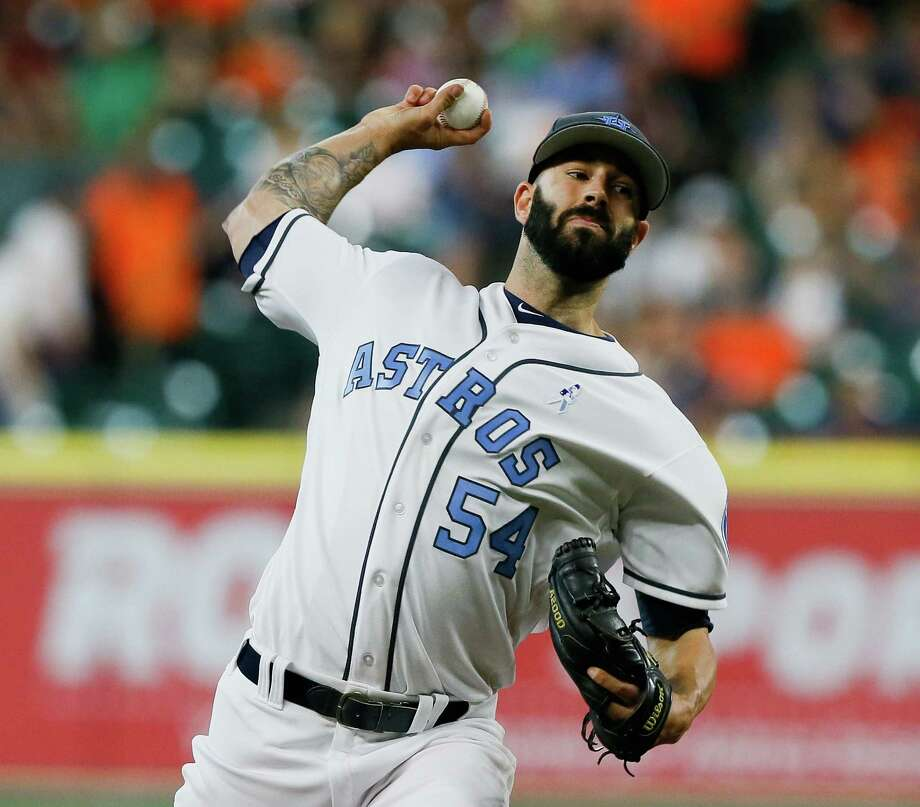 Astros' Mike Fiers Leaves Game After Getting Hit By