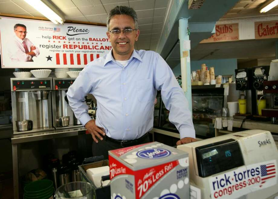 Rick Torres is mounting his campaign for Congress from his Harborview Market in the Black Rock section of Bridgeport. Photo: Brian A. Pounds / Connecticut Post